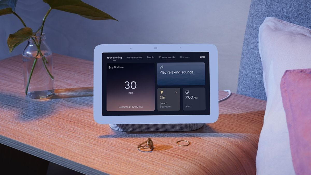 This photo provided by Google shows the Nest Hub. Sleep-sensing technology will be a key...